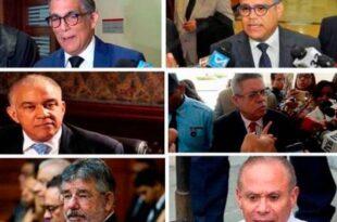 Los seis imputados por los sobornos de la constructora Odebrecht en el país. (FUENTE EXTERNA)