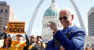 Joe Biden participa en un evento de campaña en St. Louis (Missouri, EE.UU.), el 7 de marzo de 2020.