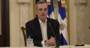 El presidente Luis Abinader durante rueda de prensa. (PEDRO BAZIL / DIARIO LIBRE)