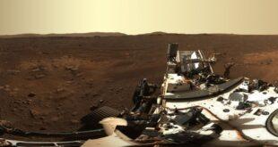 El panorama captado por el róver Perseverance en Marte el 21 de febrero de 2021.