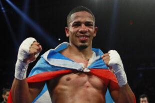 El boxeador profesional puertorriqueño, Félix Verdejo, el 20 de abril de 2019.